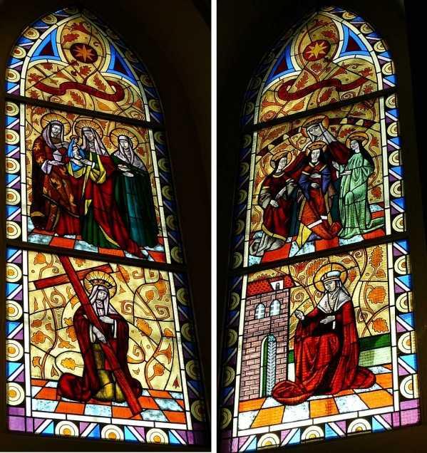 A szentély színes ablakai