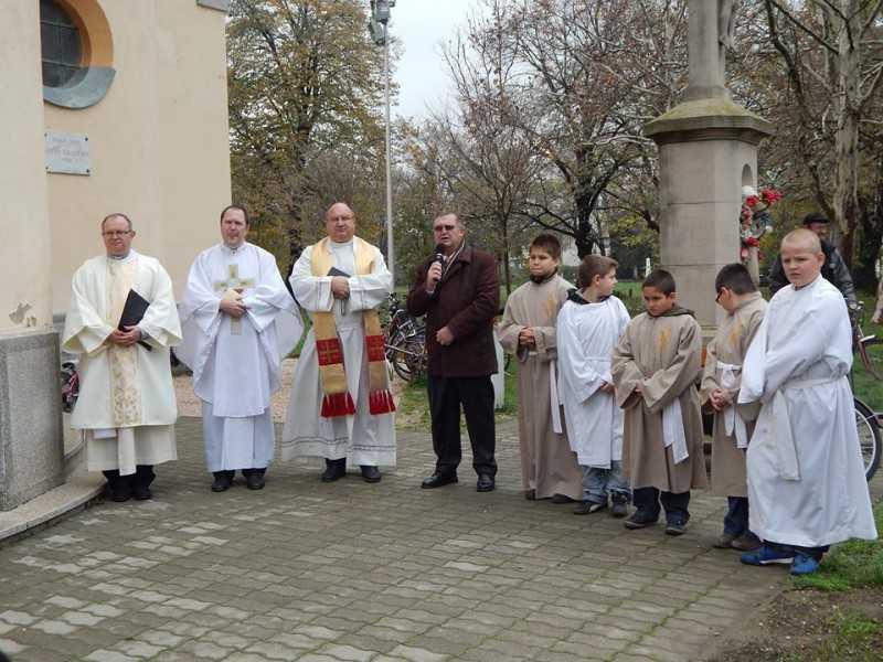 Mindszenty József sétány megáldása, 2013. 11. 24.