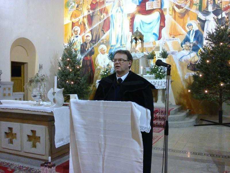 Ökumenikus imahét 2105. Papp Zsolt református lelkész templomunkban