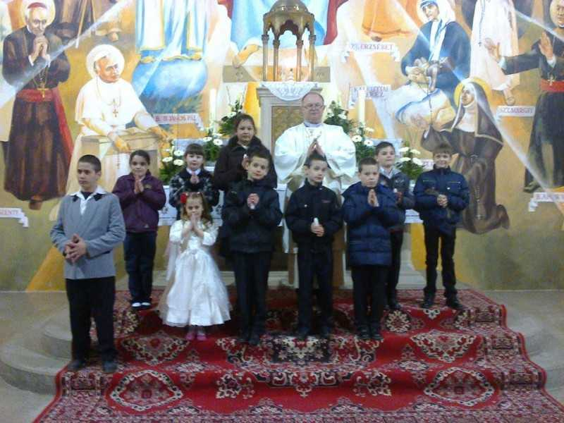 Nagyszombaton a kereszteltekkel