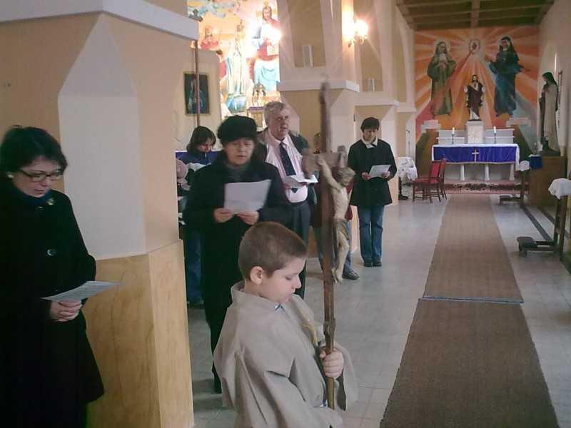 Szent Mónika közösség keresztútja nagyböjtben