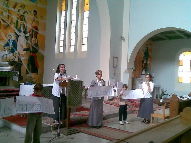 budapesti nővérek lelkinapja a templomban 2008. szeptember