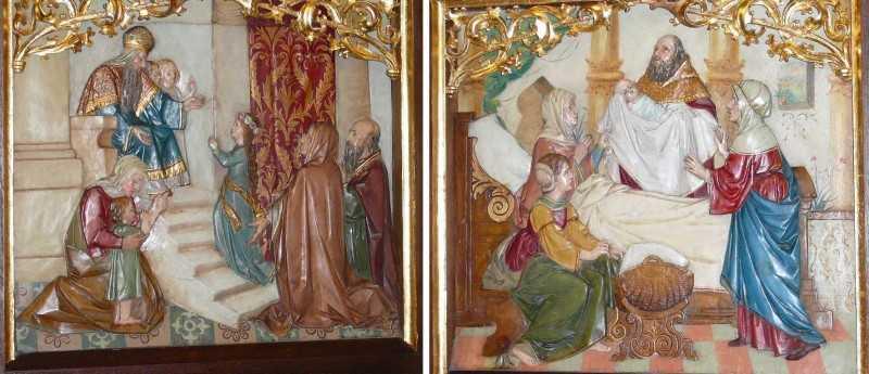 Mária bemutatása és Mária születése