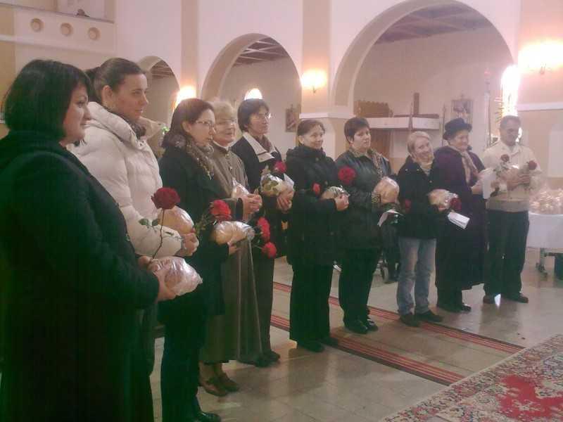 2012. november 18. karitászmunkatársak fogadalomtétele a templomban