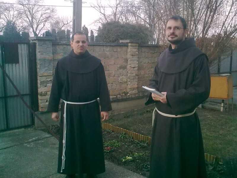 Triduumot tartott templomunkban Lehel és Piusz ferences szerzetes testvérek
